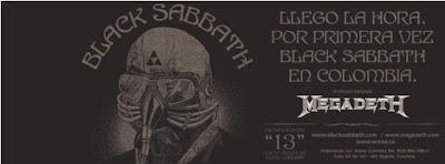 Black Sabbath y Megadeth poster