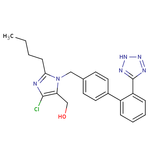 Struktur Losartan (Losartan Potassium / Losartan Kalium)