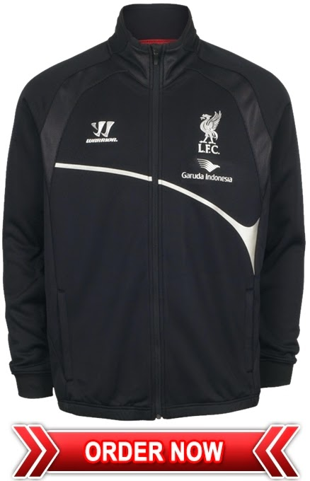 Jaket Training Hitam Liverpool Garuda Indonesia 2015