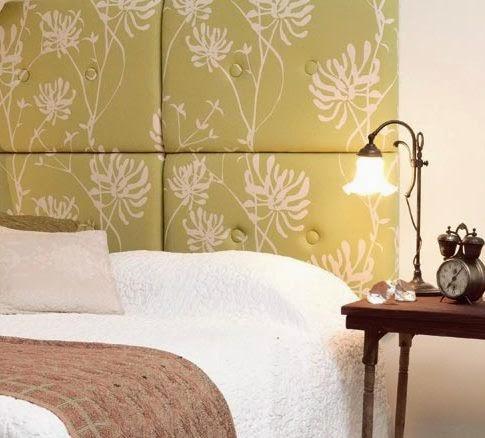 balbina: Cómo hacer un respaldo de cama tapizado. Tutorial