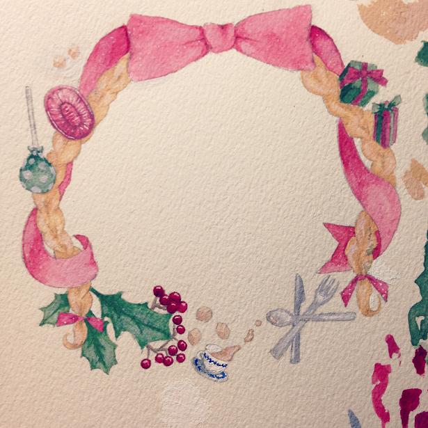 クリスマスのイラスト 着色後