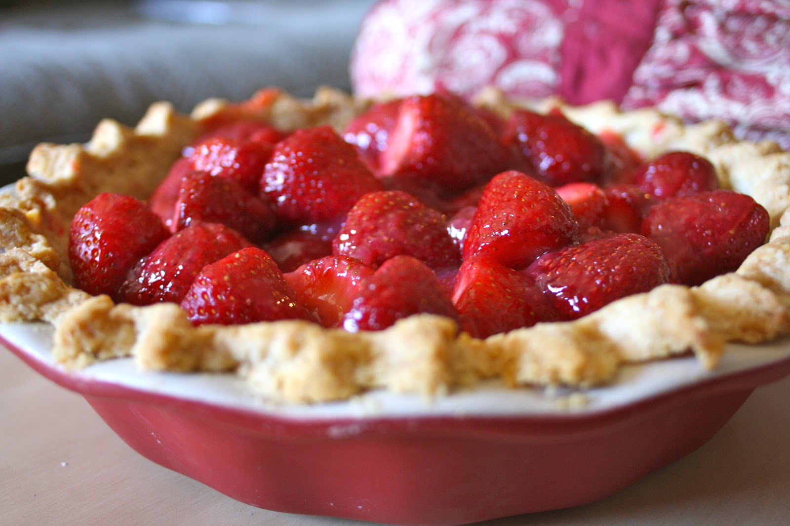 Goodness Gracious: Fresh Strawberry Pie with Whipped Cream