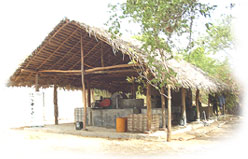 thatched roof paper making facility in Kegalle