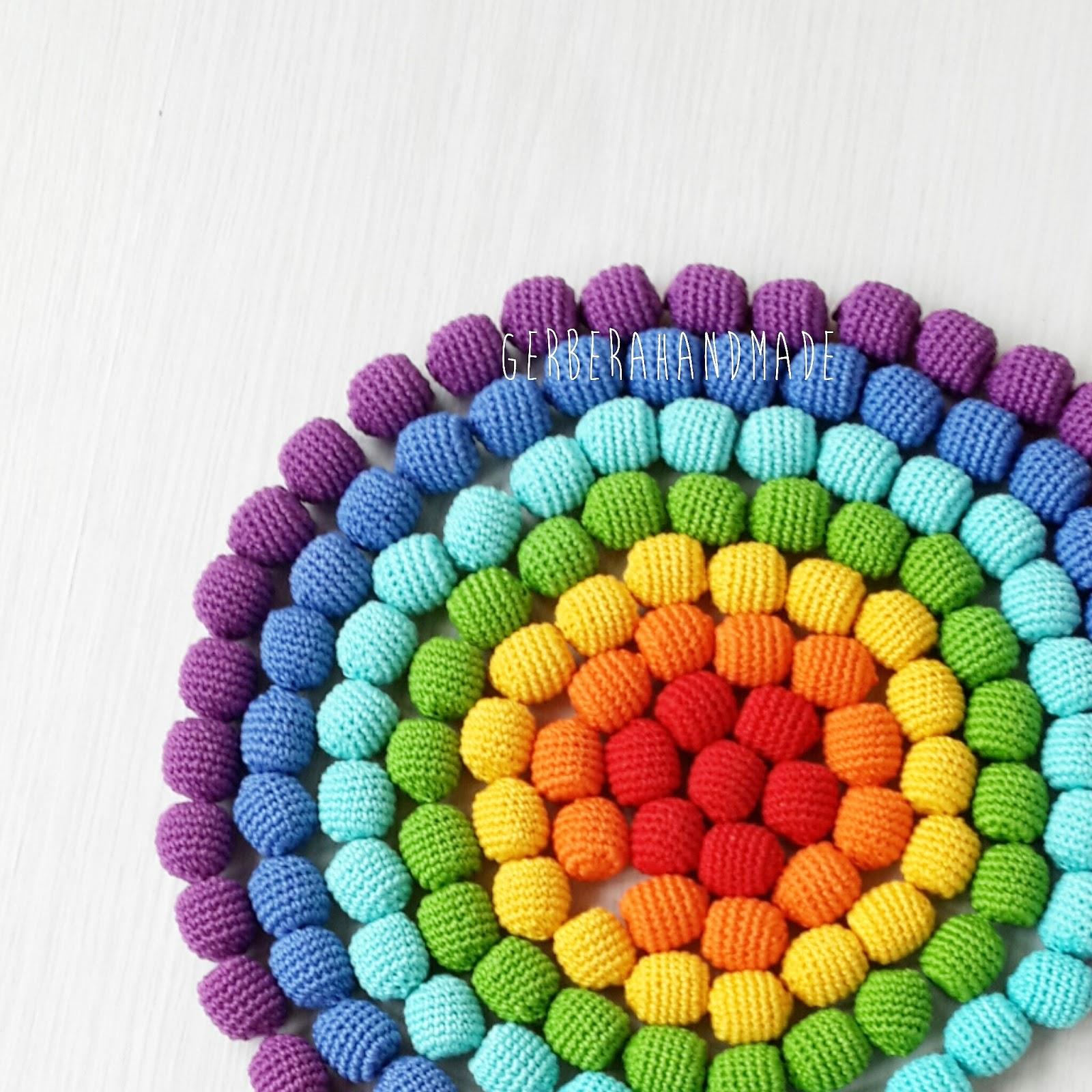 rainbow, necklace, beads, crochet bead, радуга, слингобусы, радужные слингобусы, купить слингобусы