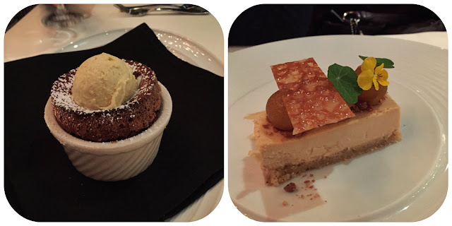 Boca Chocolate Souffle and Maple-Apple Cheesecake
