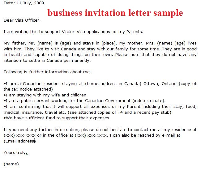 How to Write a Letter of Invitation for US Visa Application