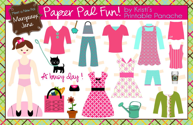 Crafty image regarding free printable paper dolls