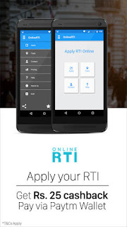 Paytm : Apply Online RTI And Get Rs.25 Cashback