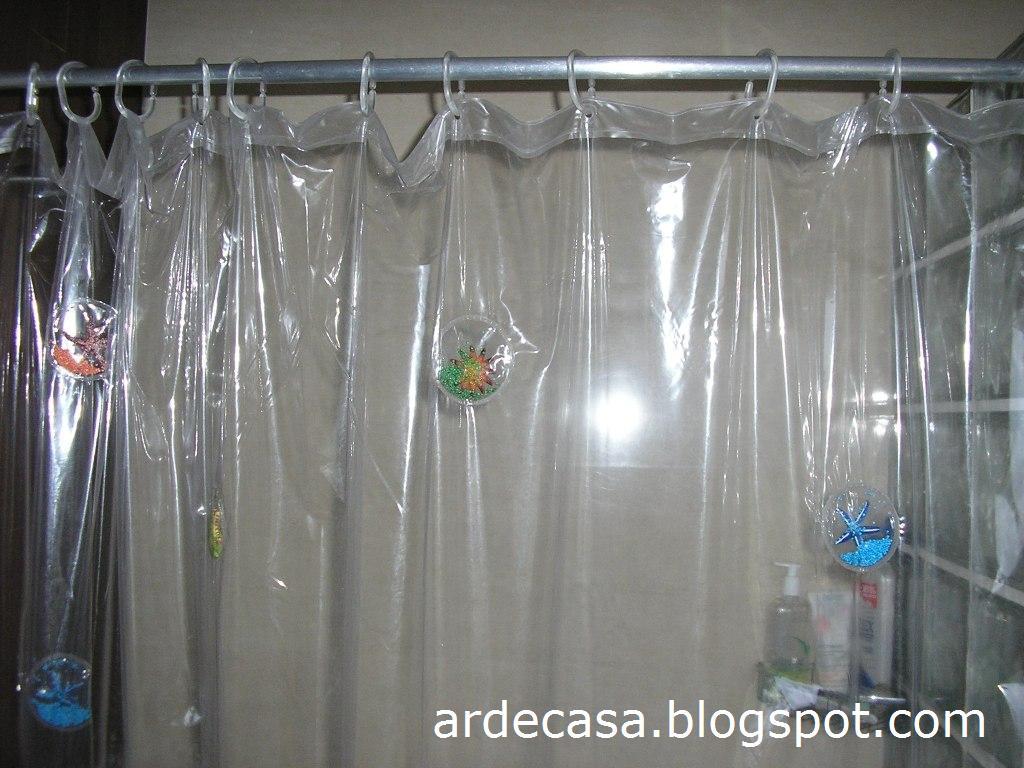 C em casa assim solu o r pida para a cortina do wc - Cortinas de plastico ...