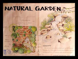 งานปี 2 : วิชา sketch design &;natural garden&;