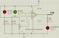 ir sensor circuit using lm358 simple param world!here, i am going to explain the working of simple ir sensor circuit we know that the white surface reflects all the radiations which falls on it whereas