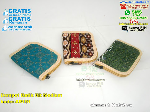 Dompet Batik Rit Medium