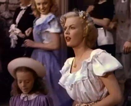 Marilyn Monroe, June Haver y Natalie Wood, en una secuencia de: Scudda Hoo, Scudda Hay