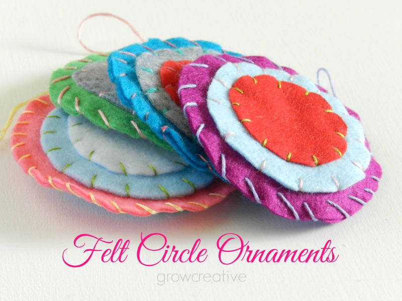 Felt Circle Christmas Ornaments