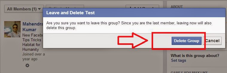 How to delete Facebook group you created 2014 image photo