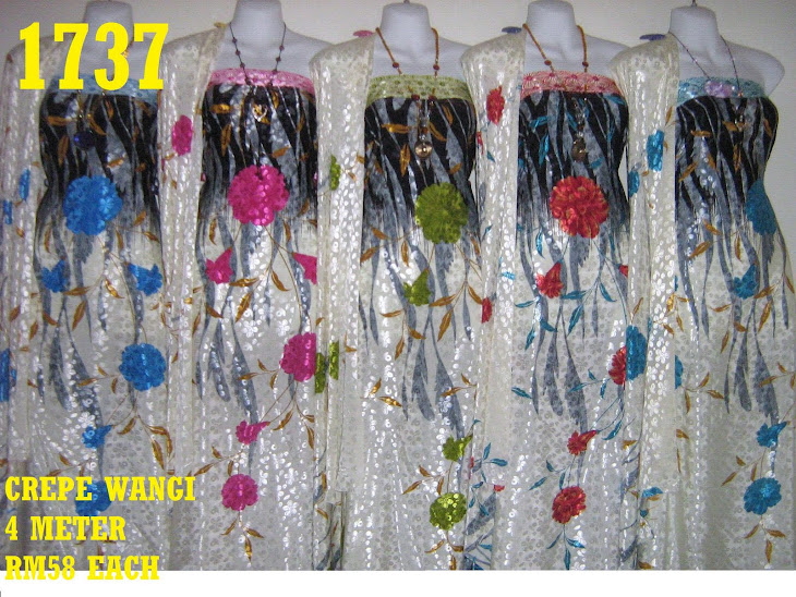 CW 1737: CREPE WANGI, 4 METER, 5 COLORS
