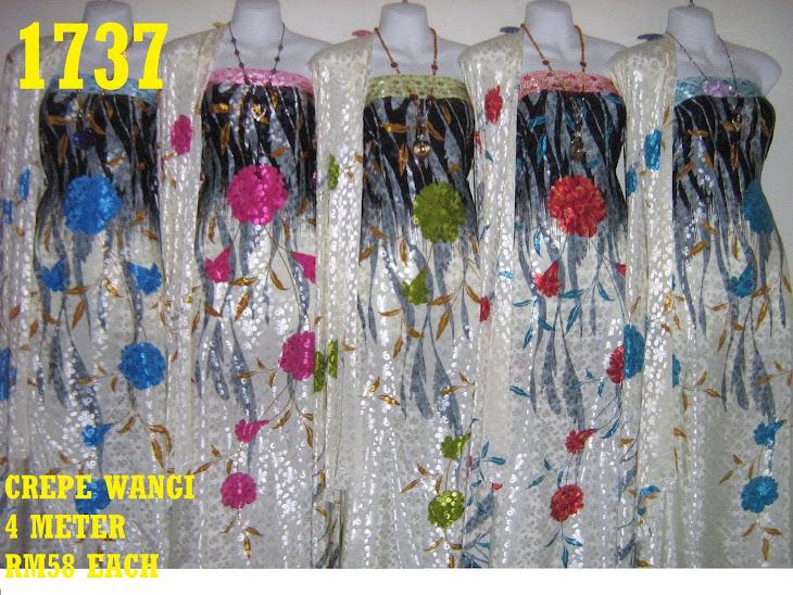 CW 1737: CREPE WANGI, 4 METER, 5 COLORS
