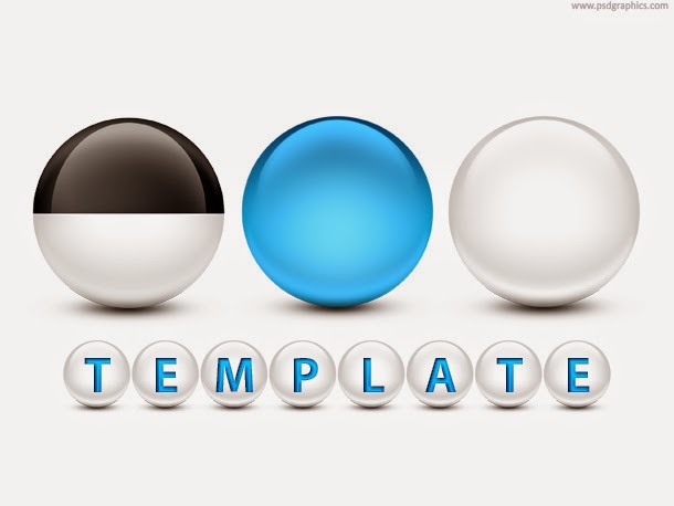 Glossy Spheres PSD Template