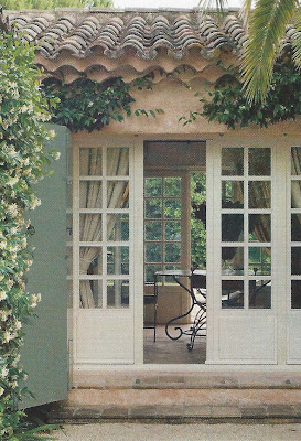 Open entry, French doors on both sides, via Ville Gardini Sept 09, edited by lb for l&l