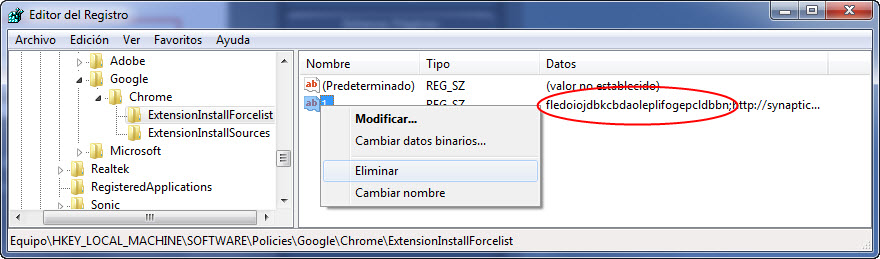 eliminar-extension-del-registro