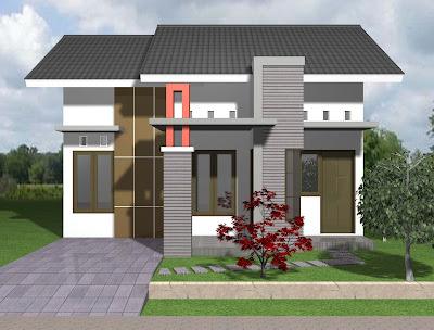 Model rumah Tipe 21 Minimalis Modern