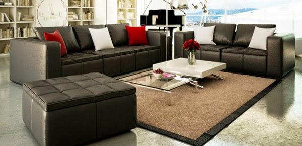 Modern black furniture