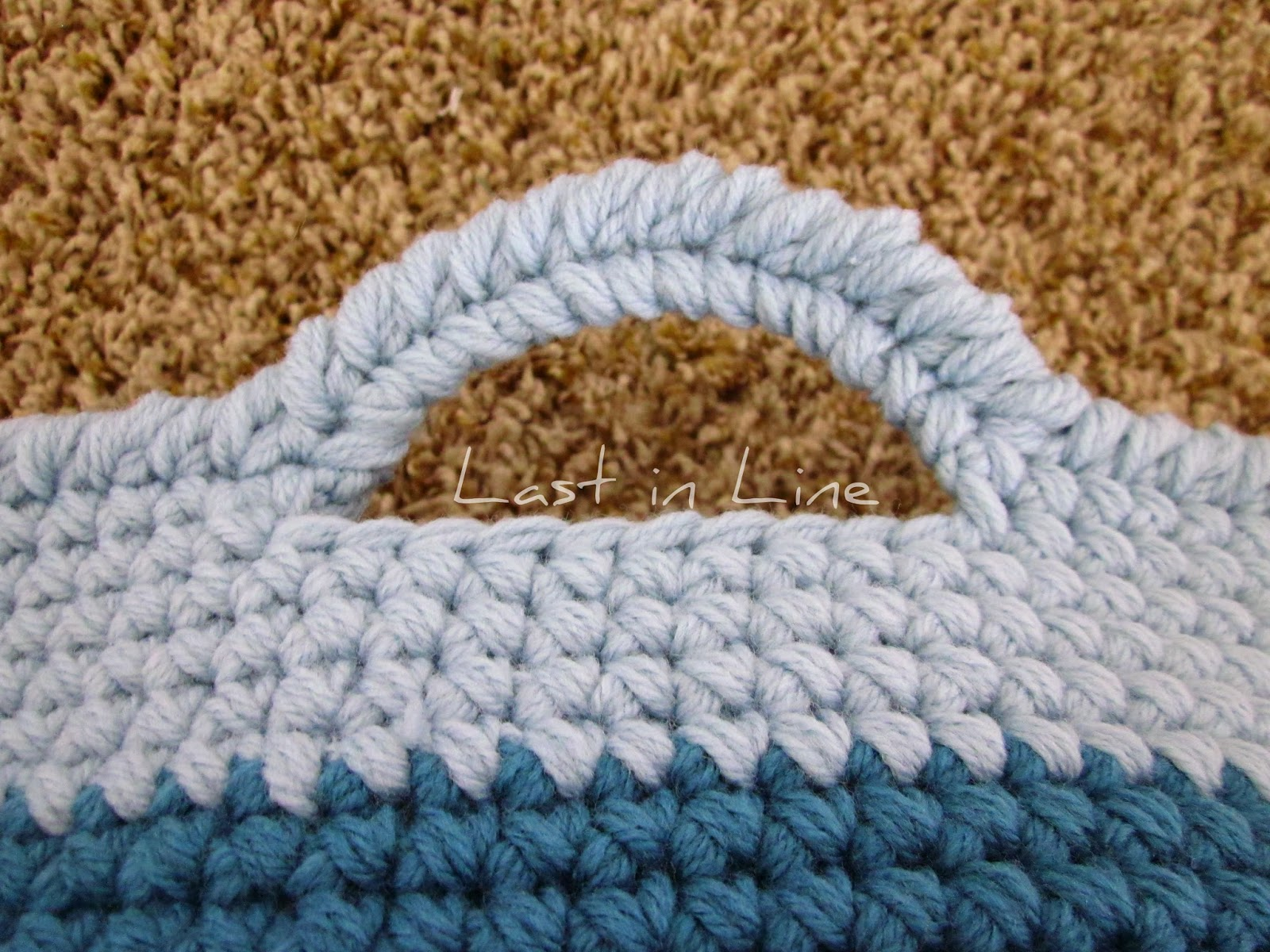 Crochet basket handle