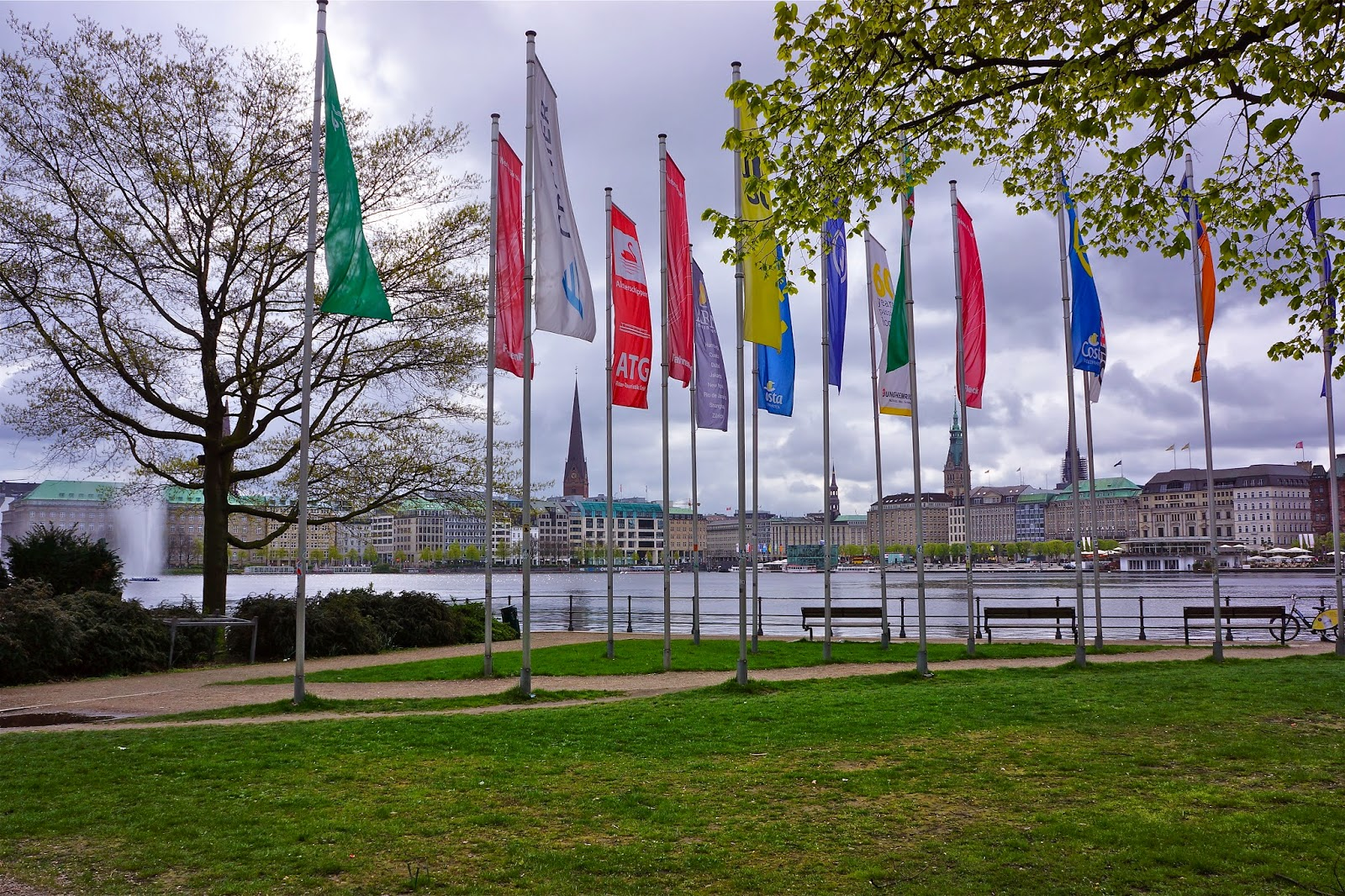 Picture of the Alster Park in Hamburg, Germany.