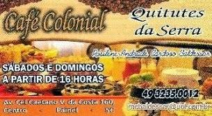 Café Colonial Quitutes da Serra, em Painel