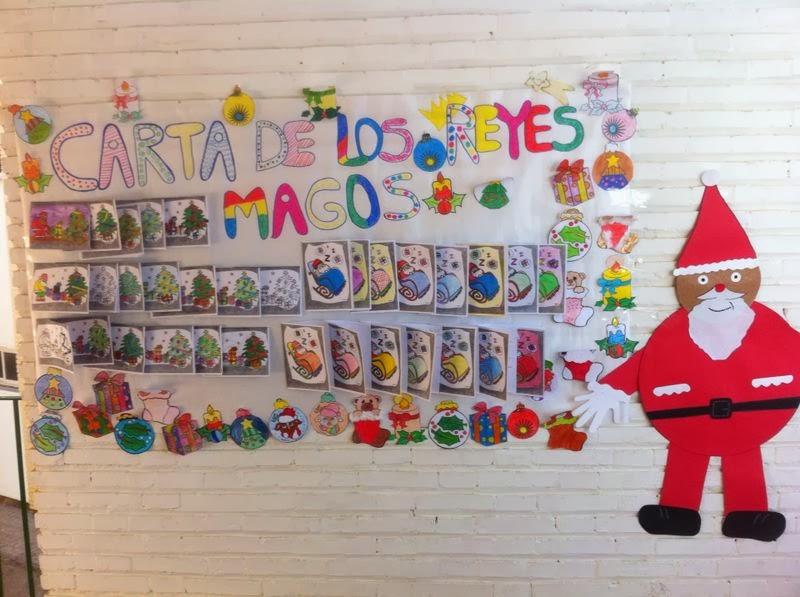 Blog de aula infantil 4 a os realizaci n de murales - Murales decorativos de navidad ...