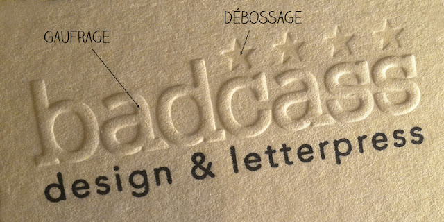 cartes de visite letterpress
