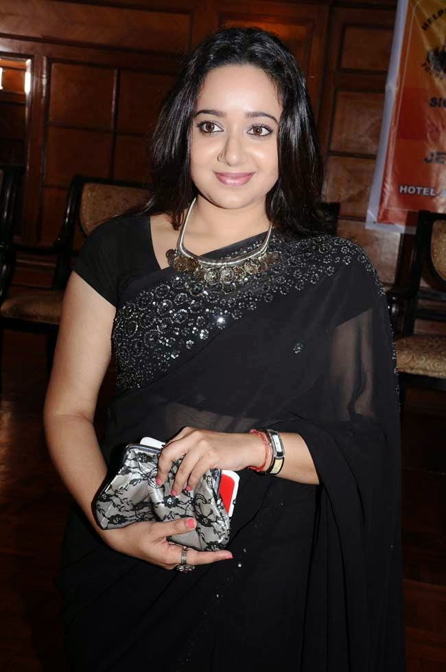 Chandra Lakshman In Black Saree