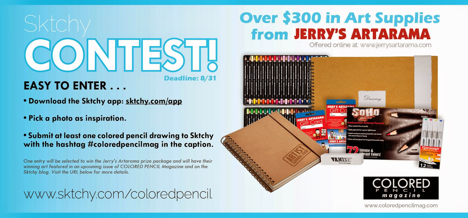 http://blog.sktchy.com/post/93107399523/contest-sharpen-your-colored-pencils
