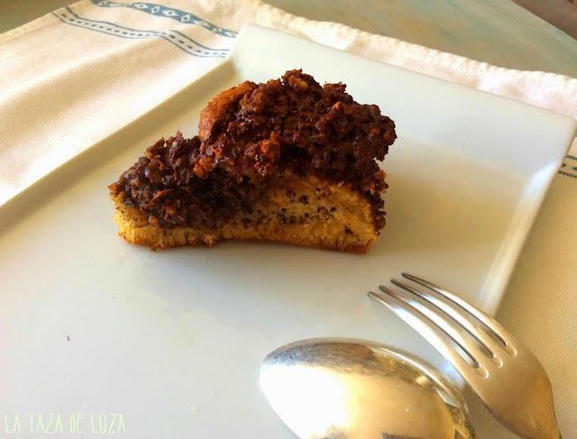 Bizcocho de chocolate y de maicena con Frutos secos