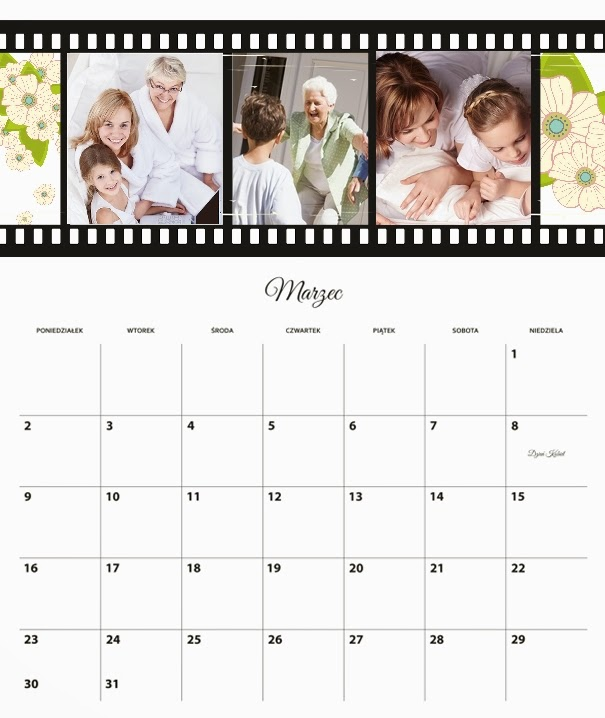 szablon fotokalendarza oto foto