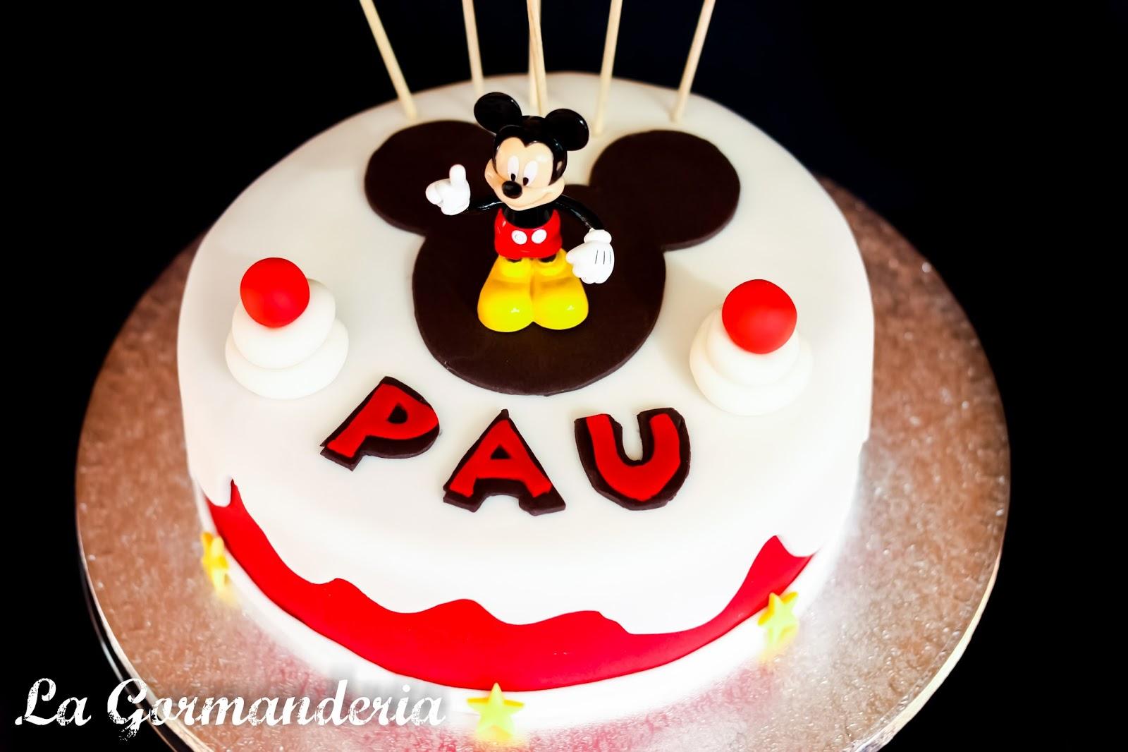 Mickey Mouse, tarta, cake, pastel, fondant, buttercream fresa