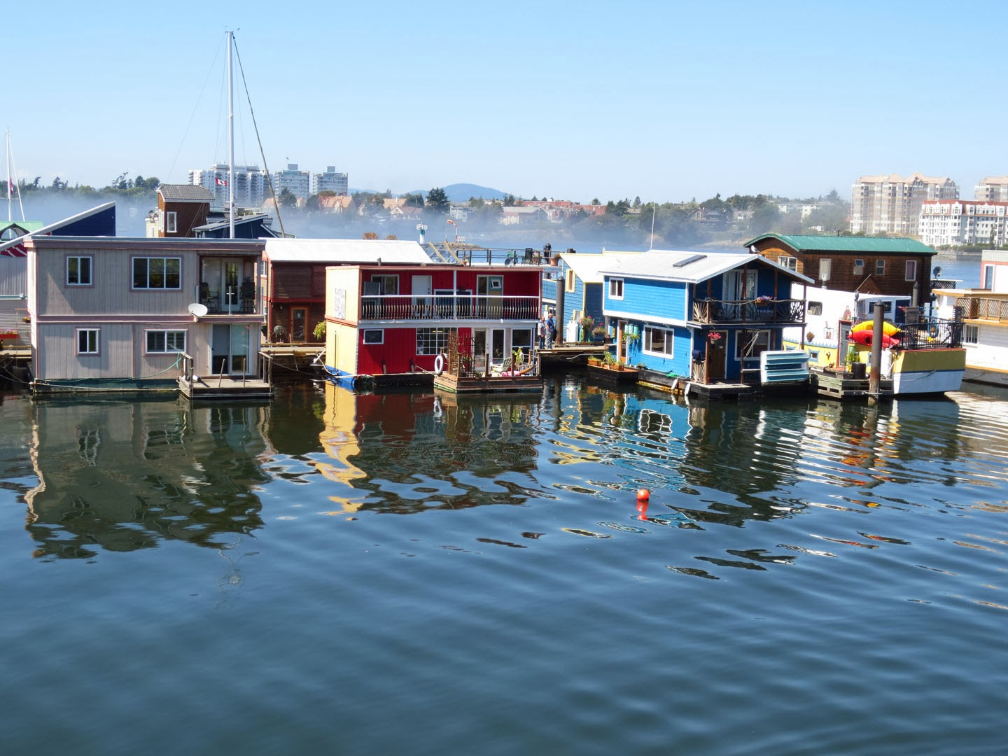 house boats, fisherman's wharf, Victoria, BC