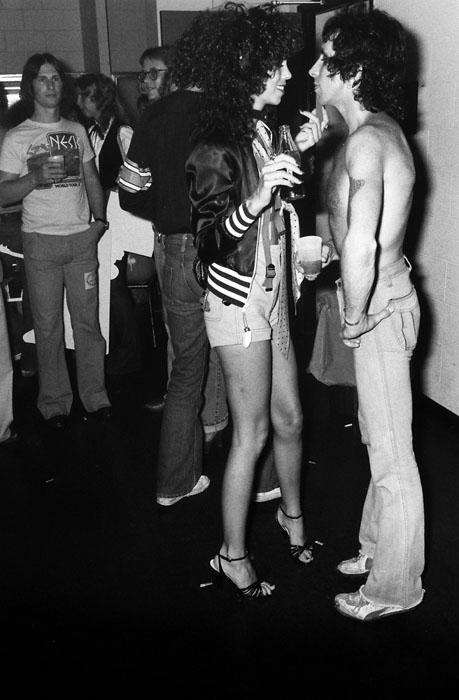 Bon Scott backstage, Atlanta, Georgia 1978
