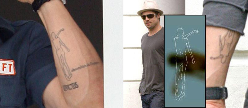 brad pitt, tattoo, tatuaggio, mummia, similaun