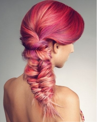 Vibrant Pink Hair Highlights Ideas 2014