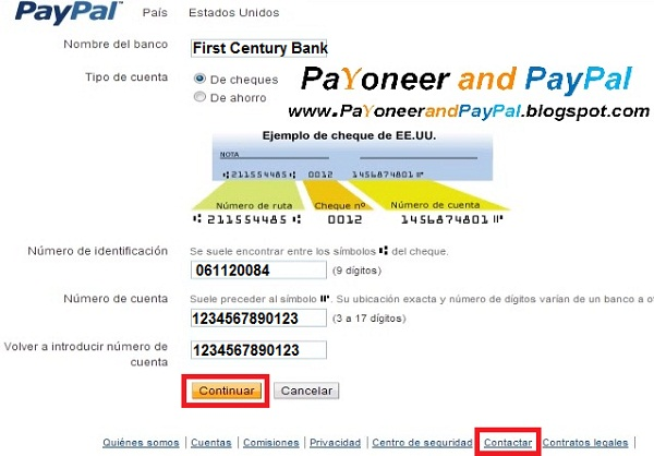 Numero De Ruta Banca Oriental:Solucion) Asociar cuenta bancaria Payoneer a Paypal