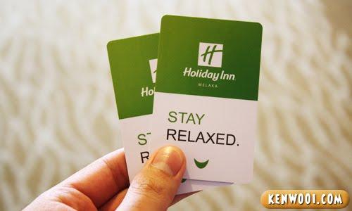 holiday inn melaka card