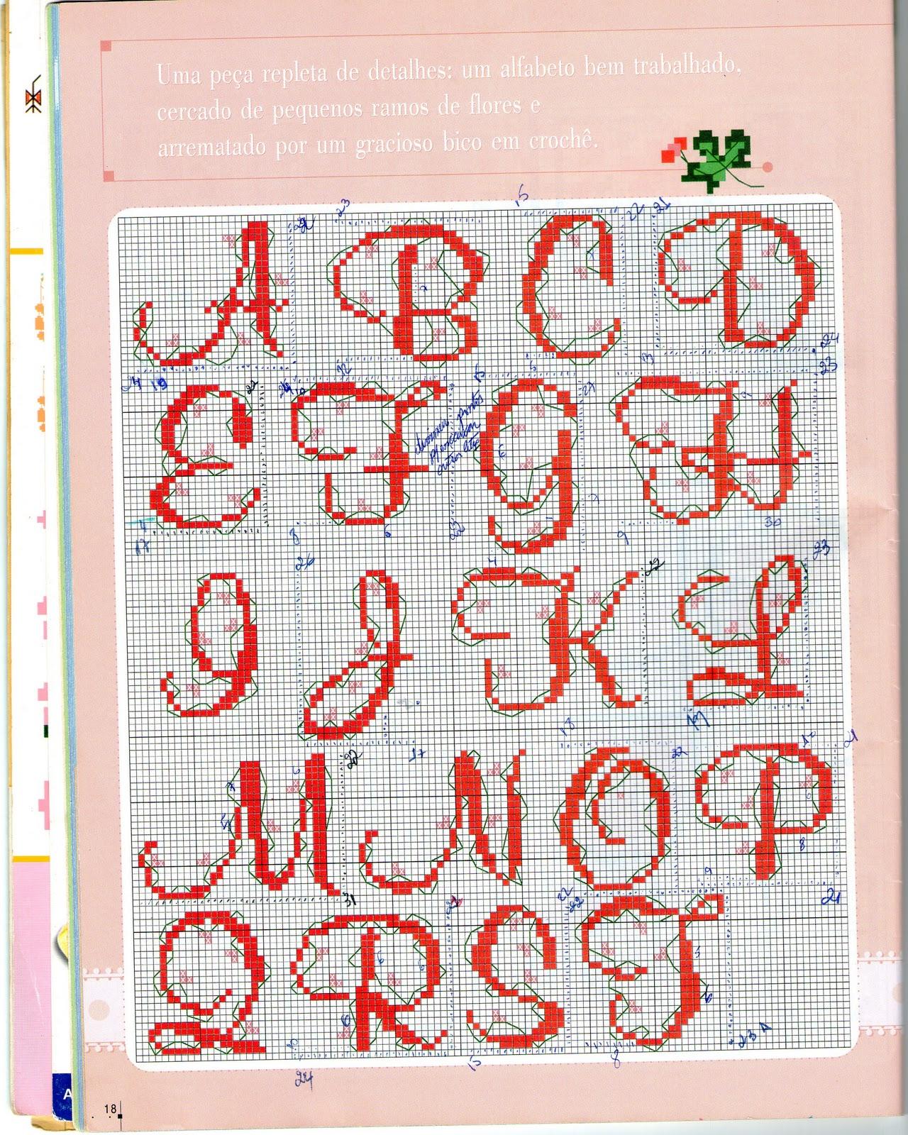 Um lindo alfabeto para personalizar suas criações!!!