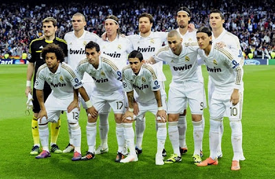 Real Madrid starting lineup 2011-2012