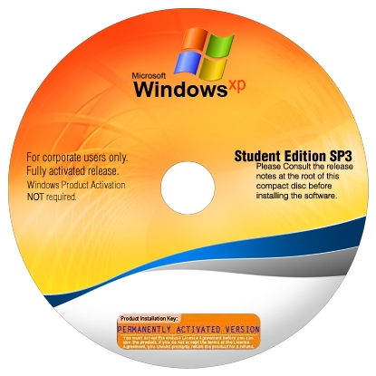 Microsoft Windows XP SP3 Corporate Student Edition April 2011  640 MB