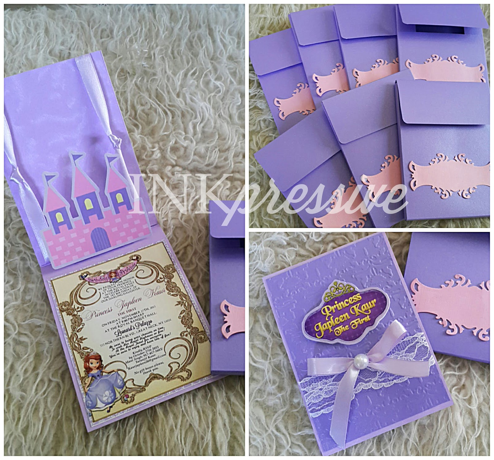 Sofia the First Pop Up Castle Invitation | KIDDIE INVITATIONS