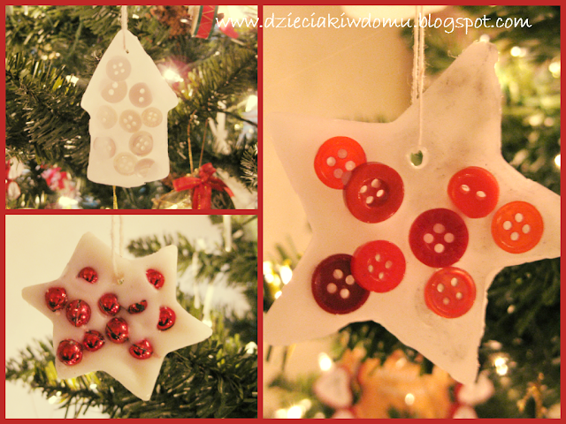 bombki z wosku na choinkę, ozdoby świąteczne