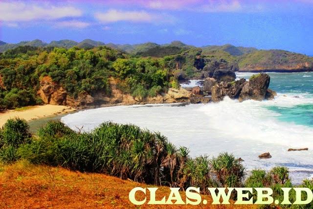 Wisata Pantai eksotis pantai Jungwok di gunungkidul Yogyakarta selain pantai indrayanti