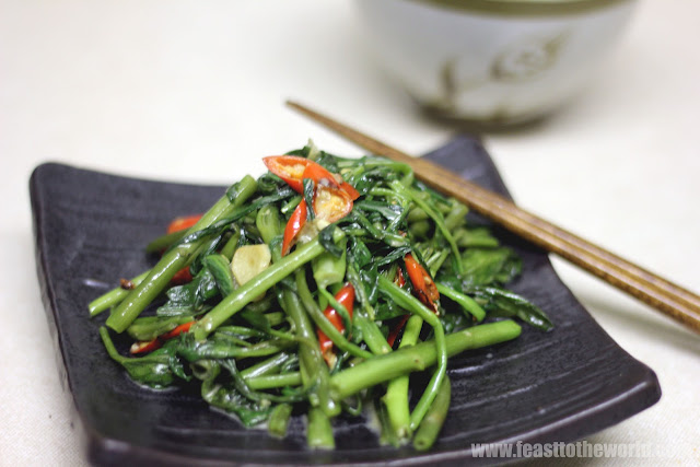 Any Veg - Stir-fried Kangkung/Water Spinach With Fermented Bean Curd ...