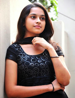 Sri Divya looking hot in a black salwar